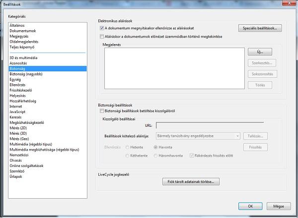 PDF formátumú e-számla ellenőrzése, 1. lépés
