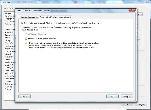 PDF formátumú e-számla ellenőrzése, 2. lépés